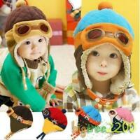 New Baby Earflap Toddler Girl Boy Kids Pilot Aviator Cap Warm Soft Beanie Hat