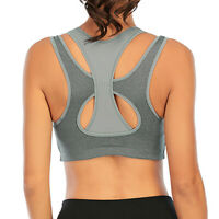 Women's Workout Sports Bra High Impact Support Bounce Control Wirefree Top NEW
