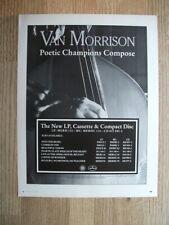 Van Morrison Poetic Champions Compose 1987 Original MUSIC magazine advert 11 X 9