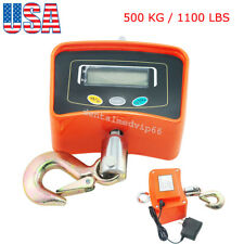 Digital Crane Scale 500KG / 1100LBS Heavy Duty Industrial Hanging Scale US STOCK