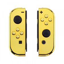 Custom Chrome Gold HousingShell Cover With Buttons for Nintendo Switch Joy-Con