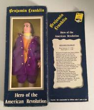 "3 Heroes Of The American Revolution 8"" Dolls P. Henry, Ben Franklin, N. Hale"