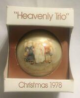"VIntage Schmid 1978 ""Heavenly Trio"" Angels Berta Hummel Christmas Ornament"