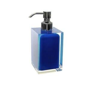 "*NEW* Gedy RA81-05 Rainbow Soap Dispenser 0.9"" L x 2.76"" W, Blue - Free Ship E3B"