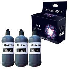 3 Black  Bottle Refill Printer Ink Bottle  for Dell Canon Epson HP Brother 300ml