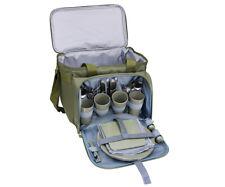CI Picknick Kühltasche für 4 Personen / oliv Geschirr Besteck Camping Tasche NEU