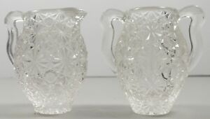 EAPG  Early American Pattern Glass Daisy & Button Creamer & Sugar Child's Toy