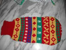 New listing Dog cat pet apparel sweaters size S-M(8-14 lbs) color red yellow green new