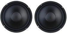 "(PAIR) 55-2970  6.5"" Custom Audio Heavy Duty 50W RMS 8 ohm Woofer Speaker"