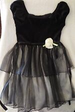 George Girl Holiday Christmas Dress Black and Ivory size 7