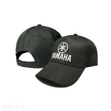 Yamaha CARBON Black Baseball Cap Embroidered Moto Logo Hat Mens Women Motorcycle