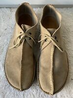 Clarks Beige Suede Leather Casual Lace Up Chukka Ankle Boots Shoes Men's 12 M