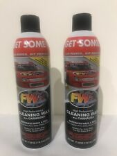 FW1 Fast Wax High Performance Wash & Wax Waterless Cleaning Spray 17.5oz 2 Cans