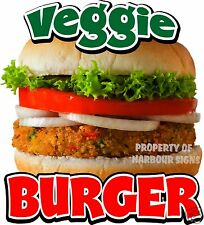 "Veggie Burger Decal 14"" Burgers Restaurant Concession Food Truck Vinyl Sticker"