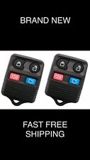 PAIR FORD VEHICLES NEW 4-BUTTON KEYLESS ENTRY REMOTE FOB       (2-r12fx-dkr-mcm)