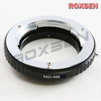 Macro Confirm Minolta MC MD lens to Nikon F mount Adapter D4 D90 D600 D800 D5100