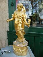 Statuette Ange en Bois Doré XIX ème siècle Chérubin