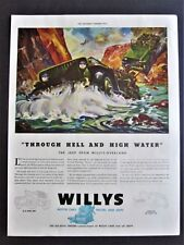 Jeep Through Hell and High Water, Willy's Overland Jeep WWII  Ad