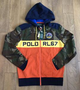Polo Ralph Lauren RL 67 Men's Camo Hoodie Size XL