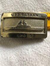 USS Bataan USN Ship NAVY LHD 5 Belt Buckle