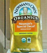 Newman's Own Organics Special Decaf Medium Roast Ground Coffee Case 6 10oz Packs