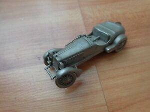 DANBURY MINT CLASSIC 1933 ALFA ROMEO 8C 2300 PEWTER REPLICA MODEL CAR USED