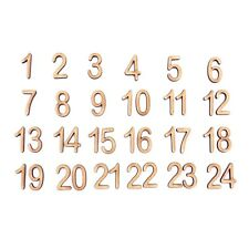 2cm Tall - Arial Bold - Christmas Advent Numbers Laser Cut From 3mm MDF