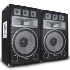 """2x Vonyx 15"""" TX15 Professional DJ PA Party Speakers Sound Setup 1000W SSC2292"""