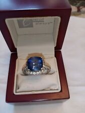 10k white gold ring size 7, Sapphire