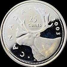 2003 Canada 25 Cents (Silver) - Scarce Superb Gem Proof - DCAM / UC (ex set)