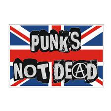 Sticker plastifié PUNK'S NOT DEAD Anarchy UK Sex Pistols Mini - 11cm x 7cm