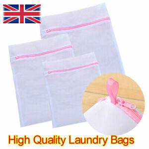3 x Zipped Wash Bag Laundry Washing Mesh Net Lingerie Underwear Bra Clothes Sock