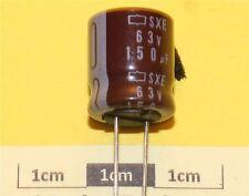 Nippon chemi-con SXE Condensador electrolítico Radial 150µF 63V 105 ° C (pk de 3)
