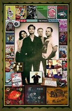 """Pixies -11x17"""" collage poster - vivid colors/deep blacks - signed by artist"""