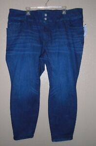 Old Navy Rockstar Women's Jeans Built in Sculpt Dark Wash Plus Size 24 Short NWT