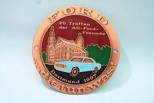 PLAKETTE: ALT-FORD FREUNDE - 20.Treffen 1997 Dortmund, Kupfer emailliert, 80 mm