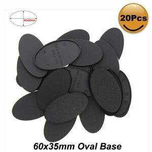 MB660 20pcs Oval Bases 60*35mm Oval Base Plastic Bases For Miniature War Games