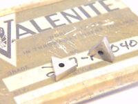 NEW SURPLUS 10PCS. VALENITE  TNEA 221  GRADE: VC4  CARBIDE INSERTS