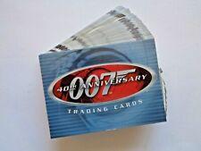 2002 RITTENHOUSE *JAMES BOND 40TH ANNIVERSARY* NEAR SET 50/60