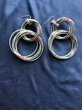 AllSaints Large Rare Dangle Hoop Earrings All Saints