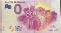 BILLET 0  EURO  CHATEAU DE BOUILLON BELGIQUE  2017  NUMERO 100