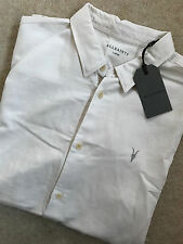"ALL SAINTS ECRU WHITE ""HERMOSA"" LOGO SHORT SLEEVE SHIRT TOP XS S M L XL NEW TAGS"