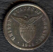 1903 US Philippine 10 Centavos United States of America Silver Coin Stock #1