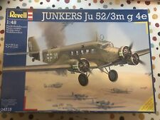 Revell 1/48 1:48 junkers Ju52/3m g 4e, pre-owned, with add-ons, Unbuilt.
