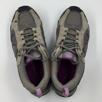 Timberland Womens Hiking Trail Shoes Purple Gray Suede Lace Up Preowned Size 7