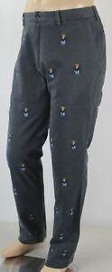 Polo Ralph Lauren Grey Tuxedo Teddy Bear Classic Fit Flat Front Pants NWT