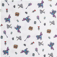 """FORTNITE  polyester fabric 1 yd long 78"""" wide white material video game llama"""