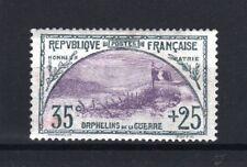 "FRANCE STAMP TIMBRE 152 "" ORPHELINS 35c+25c TRANCHEE DRAPEAU "" NEUF xx TTB R624"