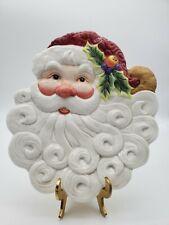 Santa Fitz & Floyd Christmas Santa Plate Essentials Vintage
