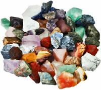SUNYIK Natural Raw Stones Rough Rock Crystals for Tumbling,Cabbing,Assorted